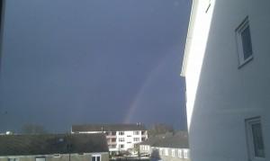 Dubbele regenboog!
