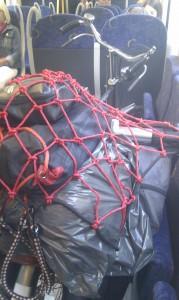 Vanochtend in de trein, met minder...