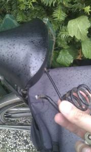 Dat het fietsen niet zo comfortabel...