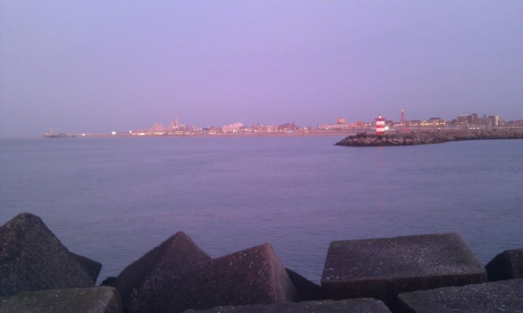 De Pier van Scheveningen een paar weken geleden, vanaf de haven gezien.